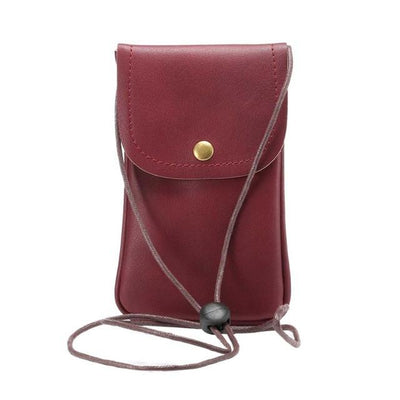 New Universal Leather Cell Phone Bag Shoulder Pocket Wallet Pouch Case Neck Strap For Samsung For iPhone 7 For Huawei For HTC LG