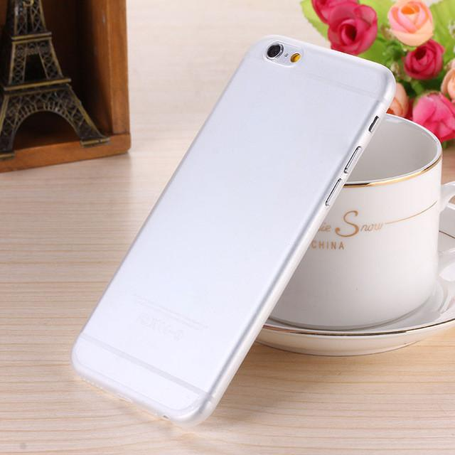 - 0.28mm Ultra thin matte Case cover skin for iPhone 6 plus/5.5 S Translucent slim Soft plastic Free Shipping Cellphone Phone case - White / for iphone6  jetcube