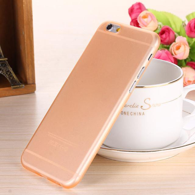- 0.28mm Ultra thin matte Case cover skin for iPhone 6 plus/5.5 S Translucent slim Soft plastic Free Shipping Cellphone Phone case - Orange / for iphone6  jetcube