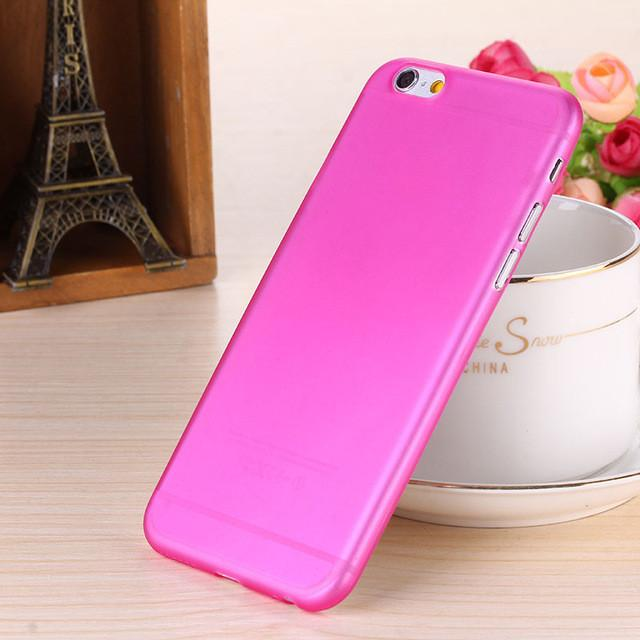 - 0.28mm Ultra thin matte Case cover skin for iPhone 6 plus/5.5 S Translucent slim Soft plastic Free Shipping Cellphone Phone case - Pink / for iphone6  jetcube