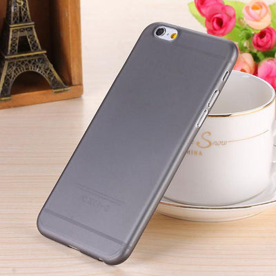 - 0.28mm Ultra thin matte Case cover skin for iPhone 6 plus/5.5 S Translucent slim Soft plastic Free Shipping Cellphone Phone case - Black / for iphone6  jetcube
