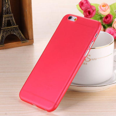 - 0.28mm Ultra thin matte Case cover skin for iPhone 6 plus/5.5 S Translucent slim Soft plastic Free Shipping Cellphone Phone case - Red / for iphone6  jetcube