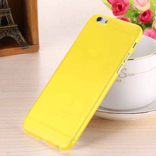- 0.28mm Ultra thin matte Case cover skin for iPhone 6 plus/5.5 S Translucent slim Soft plastic Free Shipping Cellphone Phone case - Yellow / for iphone6  jetcube