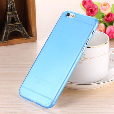 - 0.28mm Ultra thin matte Case cover skin for iPhone 6 plus/5.5 S Translucent slim Soft plastic Free Shipping Cellphone Phone case - Blue / for iphone6  jetcube