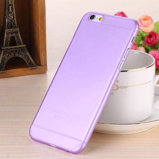 - 0.28mm Ultra thin matte Case cover skin for iPhone 6 plus/5.5 S Translucent slim Soft plastic Free Shipping Cellphone Phone case - Lavender / for iphone6  jetcube