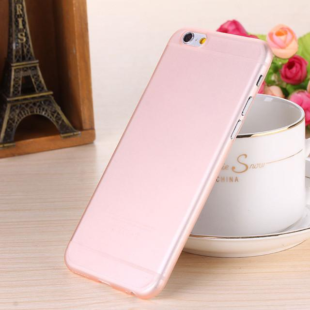 - 0.28mm Ultra thin matte Case cover skin for iPhone 6 plus/5.5 S Translucent slim Soft plastic Free Shipping Cellphone Phone case - Rose gold / for iphone6  jetcube