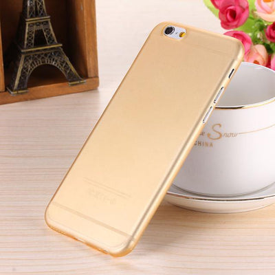 - 0.28mm Ultra thin matte Case cover skin for iPhone 6 plus/5.5 S Translucent slim Soft plastic Free Shipping Cellphone Phone case - Gold / for iphone6  jetcube