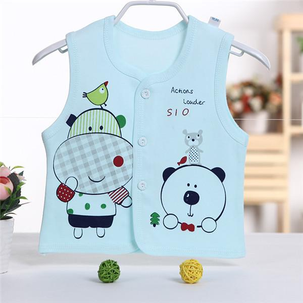 - 0-2 years High Quality Autumn Spring Children's Jackets Male and female baby Cotton Cartoon warm Vest Infant Boys and girls Kids - 3 / 4-6 months  jetcube