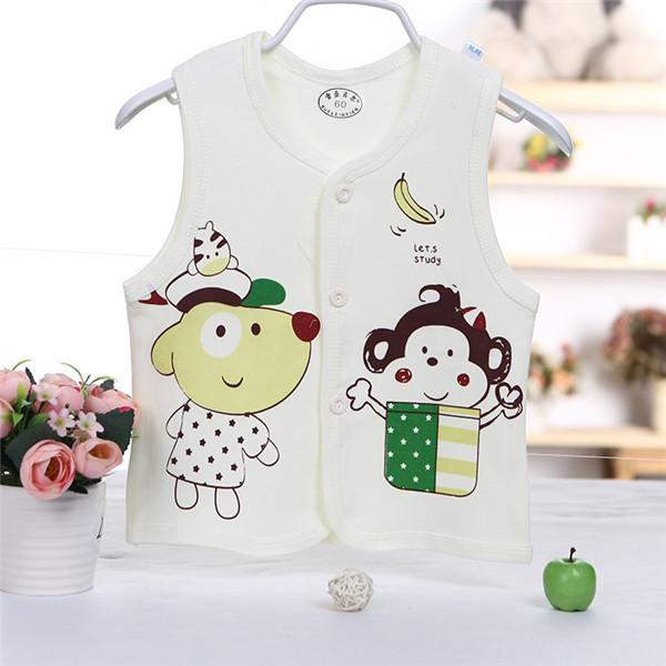 - 0-2 years High Quality Autumn Spring Children's Jackets Male and female baby Cotton Cartoon warm Vest Infant Boys and girls Kids - 4 / 4-6 months  jetcube