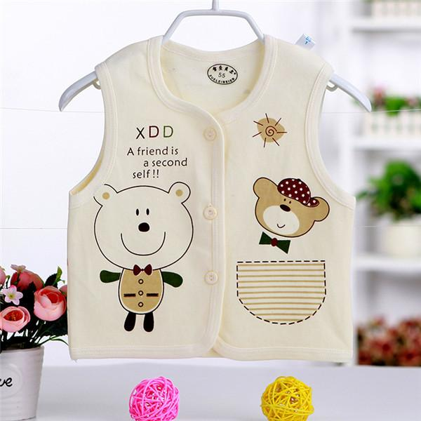 - 0-2 years High Quality Autumn Spring Children's Jackets Male and female baby Cotton Cartoon warm Vest Infant Boys and girls Kids - 5 / 4-6 months  jetcube