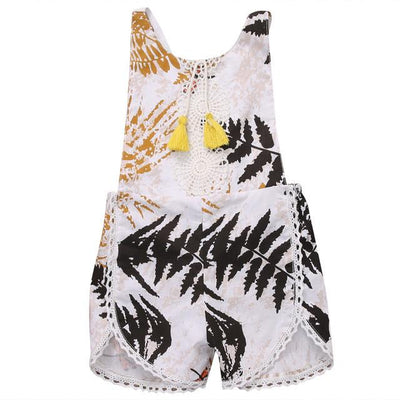 - 0-4Y Toddler Kids Clothes 2017 Newborn Baby Girls Romper Summer Sleeveless Cute Bebes Girl Backless Halter Outfit Kid Jumpsuit - Multi / 0-3 months  jetcube