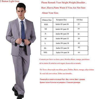 - (Jackets+Pants) 2016 New Men Suits Slim Custom Fit Tuxedo Brand Fashion Bridegroon Business Dress Wedding Suits Blazer  H0285 -   jetcube
