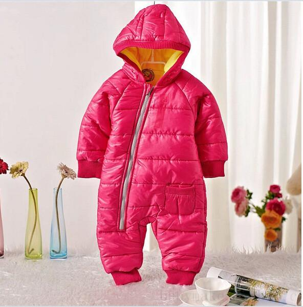 aed79d2d2806 Baby Snowwear Cotton Padded One Piece Warm Outerwear Children s ...