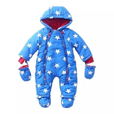 - 0-24M Baby Rompers 2016 Russia Winter Kids Boys Clothing Wind Fabrics + Velvet Infant Costume Warm Jumpsuit Free Shipping - image color 1 / 4-6 months  jetcube