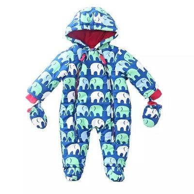 - 0-24M Baby Rompers 2016 Russia Winter Kids Boys Clothing Wind Fabrics + Velvet Infant Costume Warm Jumpsuit Free Shipping - image color 2 / 4-6 months  jetcube