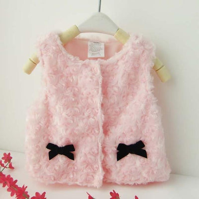 Autumn Winter Baby Waistcoat Infantil Warm Vest Kids Toddler Imitation Fur Outwear Coat Baby Boy Girl Clothes Drop shipping  dailytechstudios- upcube