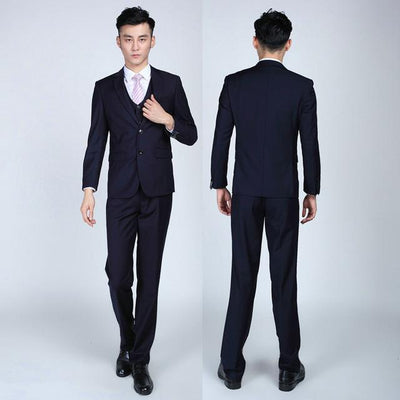 - (Jackets+Pants+tie)  2017 New Arrival Men Suit Fashion Mens Slim Fit business wedding Suit men custom made Wedding TernoTuxedo -   jetcube