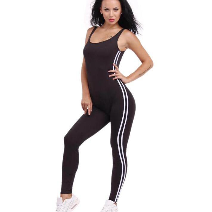 b20a9d877a5b  0802 2017 Black White jumpsuit Sexy bandage jumpsuit long One piece Rompers  womens