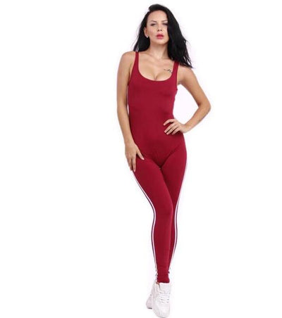- #0802 2017 Black/White jumpsuit Sexy bandage jumpsuit long One piece Rompers womens Body femme Women overalls Beyonce Ooveralls - Red / S  jetcube