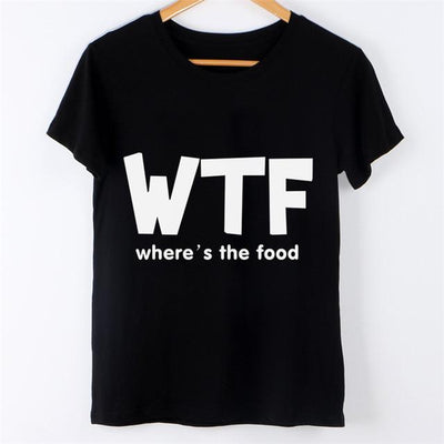 - 2016 Harajuku Brand New Letter Print Summer Women T Shirt Camisetas y Tops Short Sleeve Round Collar Tee Shirt Mujer Female Tees - wtf / S  jetcube