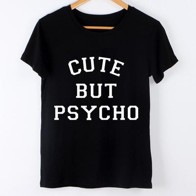 - 2016 Harajuku Brand New Letter Print Summer Women T Shirt Camisetas y Tops Short Sleeve Round Collar Tee Shirt Mujer Female Tees - cute but / S  jetcube