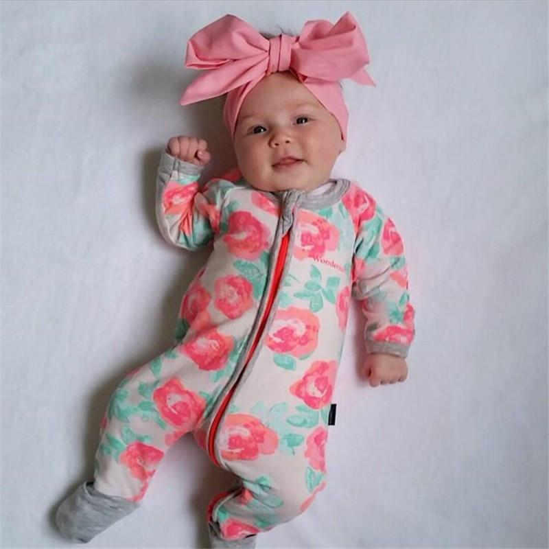 c6d8850249ea Autumn Winter Newborn Baby Clothes Baby Born Girl Clothing Jumpsuit ...