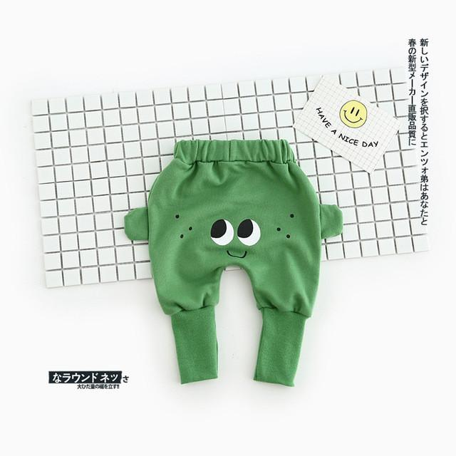 eeb0625a0 Cute Cartoon Eyes Pattern Baby Pants Boys Harem Pants Cotton Owl ...