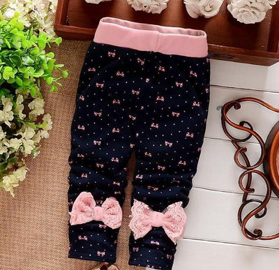 - (1piece /lot) 100% cotton 2017 new lace leggings for baby girl clothes - Blue / 4-6 months  jetcube