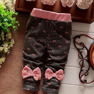 - (1piece /lot) 100% cotton 2017 new lace leggings for baby girl clothes - Dark Grey / 4-6 months  jetcube