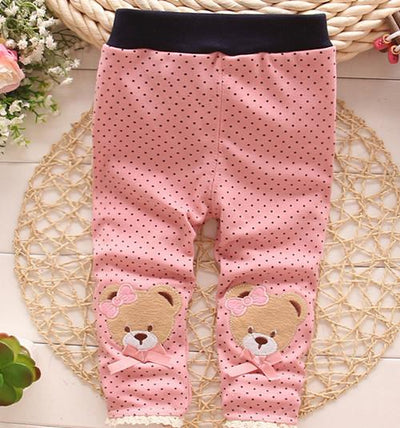 - (1piece /lot) 100% cotton 2017 new lace leggings for baby girl clothes - Pink / 4-6 months  jetcube