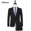 - (Jackets+Pant)2016 new arrival Famous brand TIANQIONG High quality Polyester and viscose Business casual men's black color suits -   jetcube