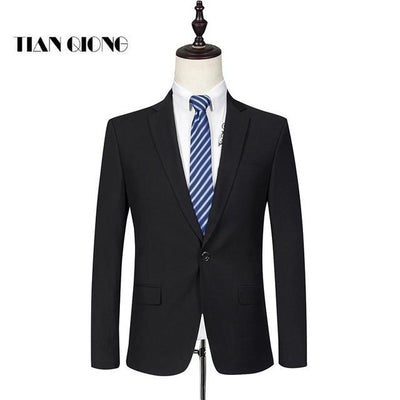 - (Jackets+Pant)2016 new arrival Famous brand TIANQIONG High quality Polyester and viscose Business casual men's black color suits - Jackets / S  jetcube