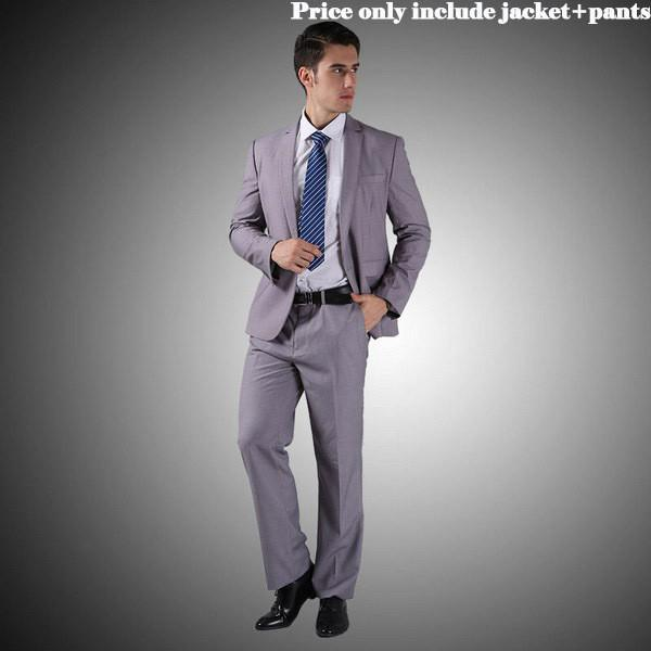 - (Jacket+Pants+Tie)Men Wedding Dress Suits 2016 Wine Red Black Grey terno masculino Casual Tuxedo F1315 - 2 Button Light Grey / S / China  jetcube