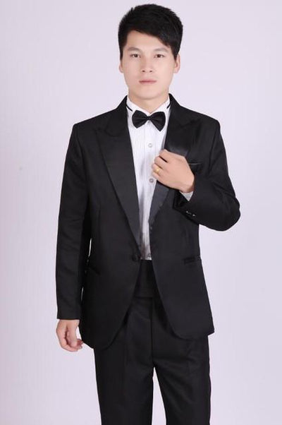 - (Jacket+Pants) White And Black Men's Fashion Tuxedo Mens Stage Show Performance Groom Suit And Pants Party Dresses Male Suits - black 1 one button / S  jetcube