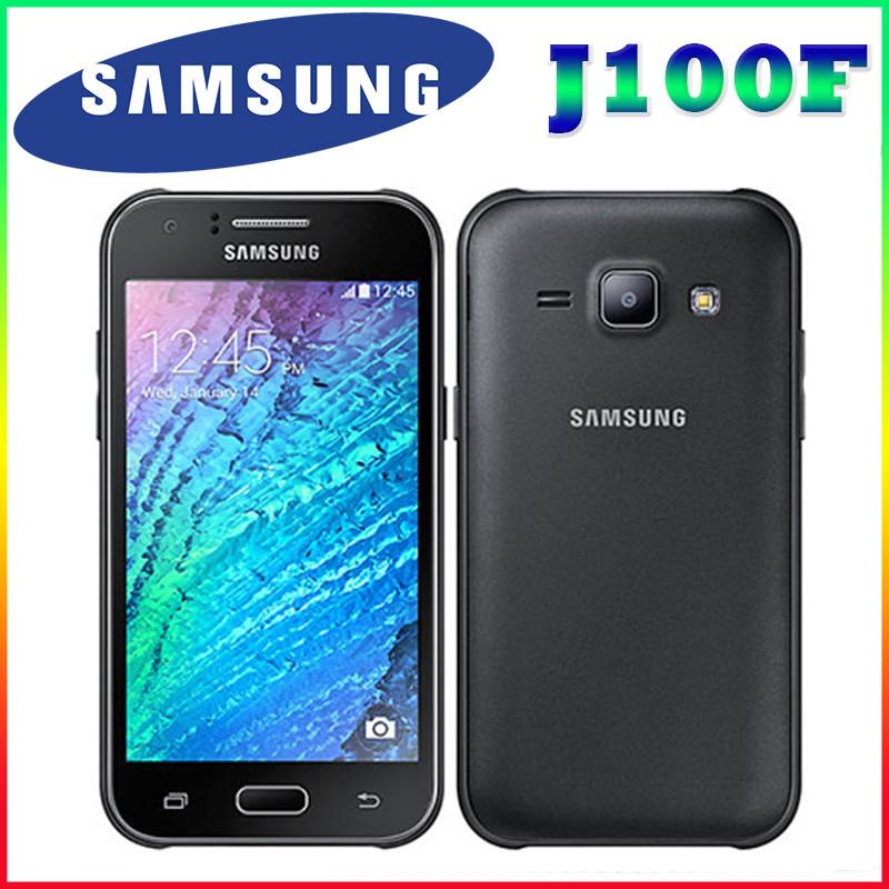 "100% Original Samsung Galaxy J1 J100F Dual Sim Unlocked Cell Phone 4.3 "" screen Quad core 4G FDD-LTE Free shipping"