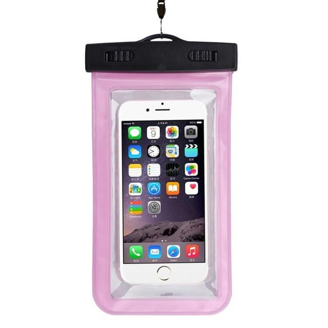 - #AE Top quality Universal Waterproof Pouch Bag Swimming Protection For iPhone 6/6 Plus Cell Phones - Hot Pink  jetcube