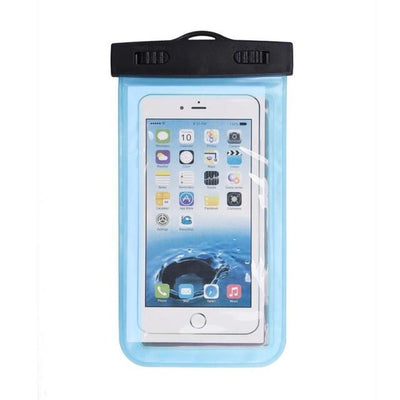 - #AE Top quality Universal Waterproof Pouch Bag Swimming Protection For iPhone 6/6 Plus Cell Phones - Light Blue  jetcube
