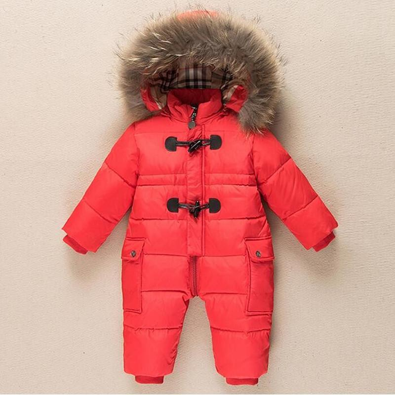 7d967f7bb Cold Winter Rompers Baby clothes children Boys Girls jumpsuit kids ...