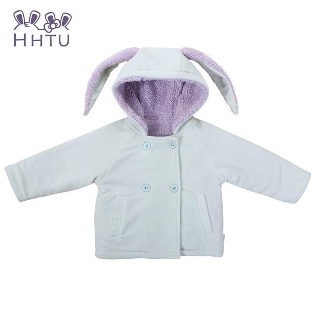 a718b1084903 HHTU Cute Rabbit Ear Hooded Girls Coat Autumn Winter Warm Kids ...