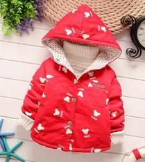 - 0-1-2 years old  Baby cartoon trench coat in spring and autumn outfit 2016 boys girls thin coat boy children cotton windbreaker - Red / 7-9 months  jetcube