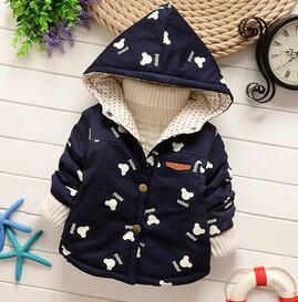 - 0-1-2 years old  Baby cartoon trench coat in spring and autumn outfit 2016 boys girls thin coat boy children cotton windbreaker - Dark blue / 7-9 months  jetcube