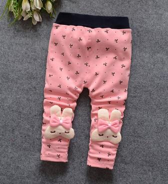 - (1piece /lot) 100% cotton 2015 new lace Meng rabbit bow Leggings for baby girl - Multi / 7-9 months  jetcube