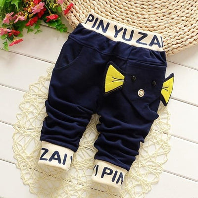 - 0-2T baby boys pants letters boy clothing cotton baby clothing kids trousers children pants harem sports factory sale qk283 - dark blue daxiang / 7-9 months  jetcube