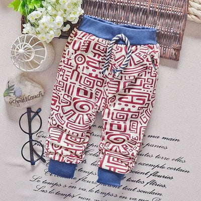 - 0-2T baby boys pants letters boy clothing cotton baby clothing kids trousers children pants harem sports factory sale qk283 - red letters / 7-9 months  jetcube