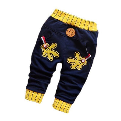 - 0-2T baby boys pants letters boy clothing cotton baby clothing kids trousers children pants harem sports factory sale qk283 - dark blue hands / 7-9 months  jetcube