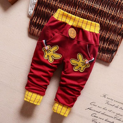 - 0-2T baby boys pants letters boy clothing cotton baby clothing kids trousers children pants harem sports factory sale qk283 - red hands / 7-9 months  jetcube