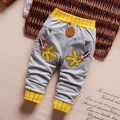 - 0-2T baby boys pants letters boy clothing cotton baby clothing kids trousers children pants harem sports factory sale qk283 - grays hands / 7-9 months  jetcube