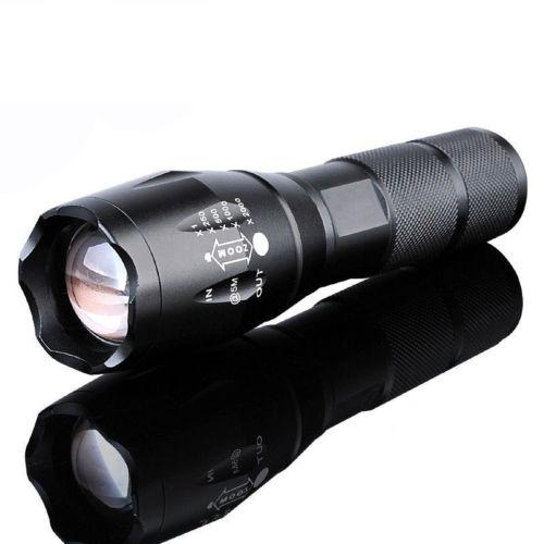 - 10000Lumens Zoomable Tactical Military LED 18650 Flashlight Torch Lamp Light -   jetcube