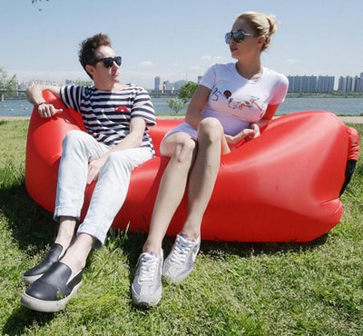 Two Seat Durable Bean Bag Chair, Air Inflatable Beanbag Sofa Cushion, Fast  Instantly Outdoor