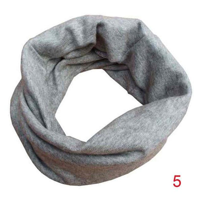 Scarves - 18 Colors Warm Baby Scarf Kids Child Cotton Scarf Boys Girls Pure color O ring scarf children neck Scarves - 05  jetcube
